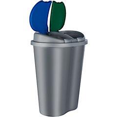 Basurero para reciclaje 50 litros gris