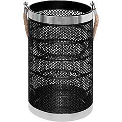 Portavela 28,5x16 cm negro