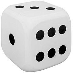 Cubo decorativo 15,5x15,5 cm MDF blanco