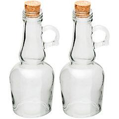 Juego de aceitero y vinagrero 2 piezas transparente