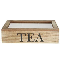 Caja para té madera 24X17X6 cm