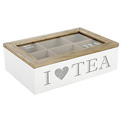 Caja para té 6 divisiones 16X23 cm