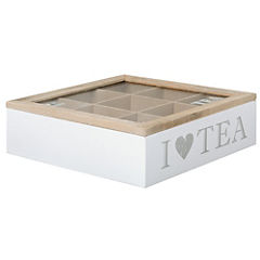 Caja para té 24x24 cm blanco