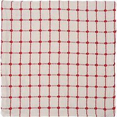 Funda para cojín Cuadro crudo y rojo 45x45 cm