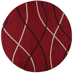 Alfombra bcf Rayas rojas red 175cm