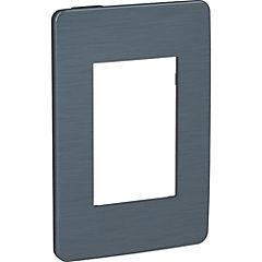 Placa 3 módulos Negro