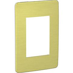 Placa 3 módulos Amarillo