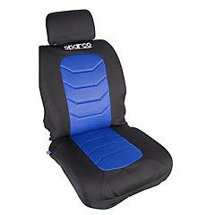 Kit de fundas asientos + chalecos poliéster Negro 11 piezas