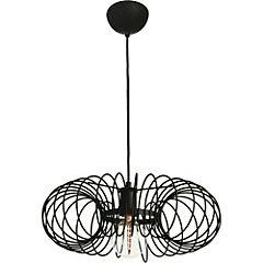 Lámpara de colgar 1 luz negra Turin