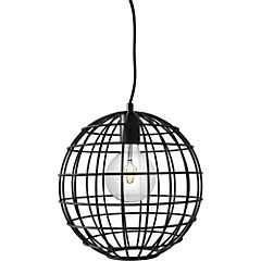 Lámpara de colgar 1 luz negra Lucca