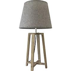 Lámpara de velador madera gris