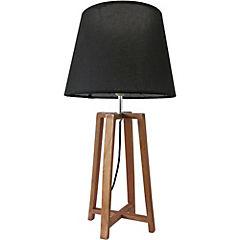 Lámpara de velador madera marrón