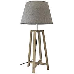 Lámpara de mesa madera gris