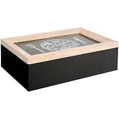 Caja para té 24x16 cm negro
