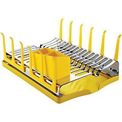 Escurreplatos con portavasos y portacubiertos Amarillo