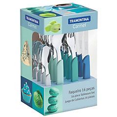 Juego de cubiertos aluminio 16 piezas Turquesa