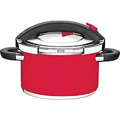 Olla a presión acero inoxidable 6 litros Rojo