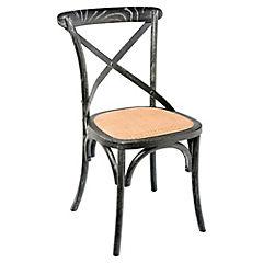 Silla Vintage 57x50x87 cm negra