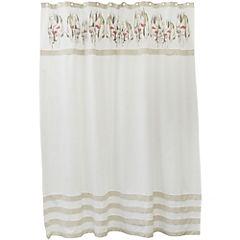 Cortina de baño textil Eucaliptus 180x180 cm crudo