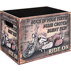 Caja decorativa 19x26x18 cm madera