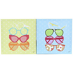 Set de canvas decorativos 27x27 cm 2 piezas