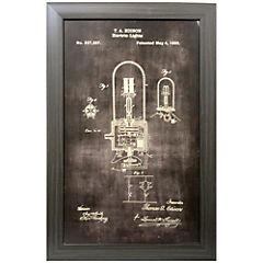 Cuadro enmarcado  40x60 cm Croquis histórico lámpara eléctrica 3