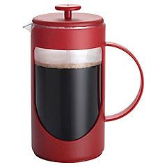 Cafetera plástico 3 tazas rojo