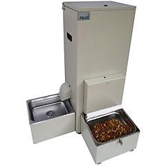 Dispensador automático de agua y comida para perro Beige