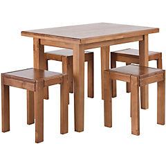 Juego de comedor 4 sillas natural