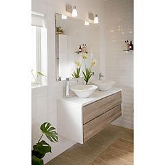 Espejo para baño 120x100x0,5 cm Blanco