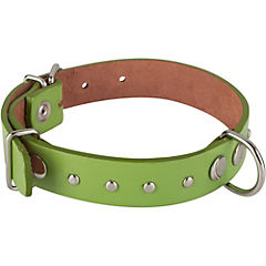 Collar de suela con tachas de 50 x 2,5 cm, color verde