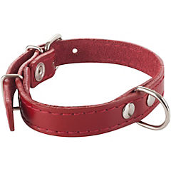 Collar de suela con costura de 40 x 2 cm, color rojo