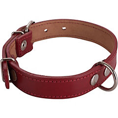 Collar de suela con costura de 50 x 2,5 cm, color rojo