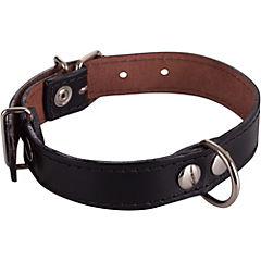 Collar de suela con costura de 50 x 2,5 cm, color negro