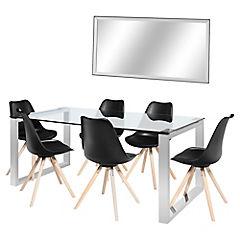 Juego de comedor Katrina 6 sillas + espejo