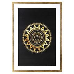 Lamina con marco 70x50 cm Gold Mándala I