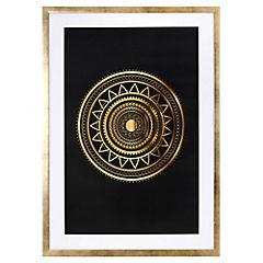 Lámina enmarcada 70x50 cm Gold Mándala II