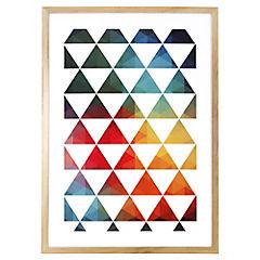 Lámina enmarcada 70x50 cm Triangle negro