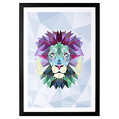 Lámina enmarcada 50x35 cm Blue Lion Madera