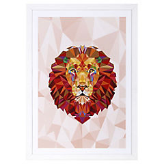 Lámina enmarcada 50x35 cm Red Lion Madera