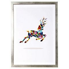 Lamina con marco 50x35 cm Deer Dorado