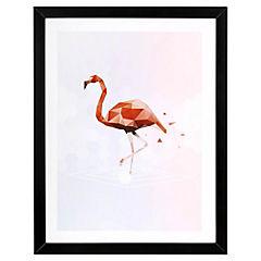 Lámina enmarcada 40x30 cm Flamenco Madera