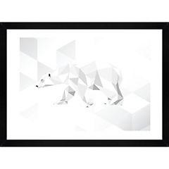 Lámina enmarcada 40x30 cm Polar Bear