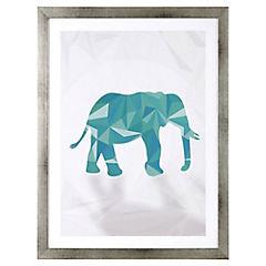 Lámina enmarcada 40x30 cm Blue Elephant