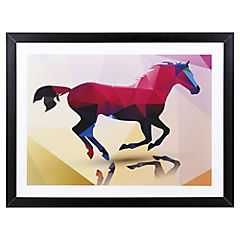 Lamina con marco 40x30 cm Horse Dorado