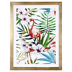 Lamina con marco 40x30 cm Jungle Blanco