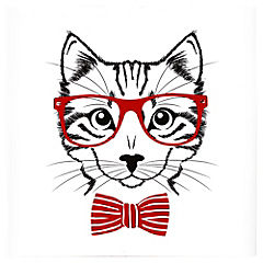 Canvas decorativo Hipster Cat 50x50 cm