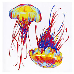Canvas 70x70 cm Jellyfish