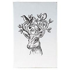 Canvas 60x90 cm Deer Bird