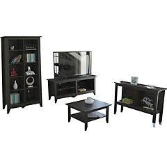 Rack+librero+arrimo+mesa centro essential wengue